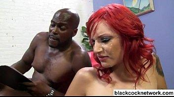 white girl sucks big black cock
