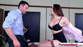 hardcore sex action between big cock stud and.