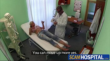 blonde chick patient gets healed by doctors big.
