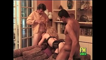 french milf in hot black lingerie banged by.