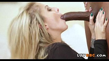 tiny blonde fucks huge black cock.