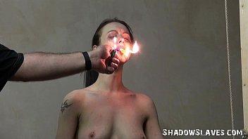 cruel burning and electro bdsm of tortured slaveslut.