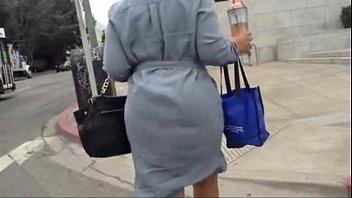 booty walking in a dress