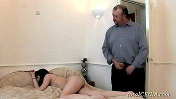 nasty slut enjoying hot cfnm action