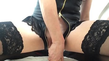 morning dildo ride with squirting pussy.
