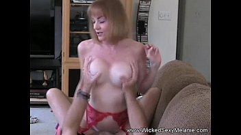 mom riding son&#039_s cock on the.