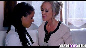 lesbian milf teaching sweet ebony teen