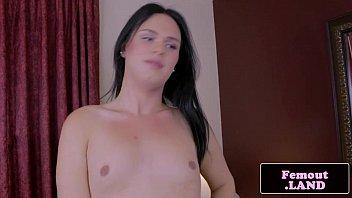 amateur lingerie tgirl jerking her uncut.