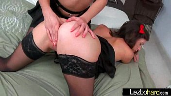 sexy lesbian girls playing in hot scene on.