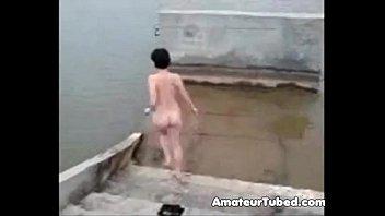 russian amateur girl bathing nude in.