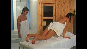 lesbian massages and sex in the sauna for.