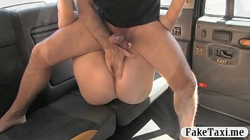 amateur redhead sucks off and drilled by fake driver