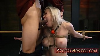 slave cleaning house and gangbang hd big-breasted blond sweetie