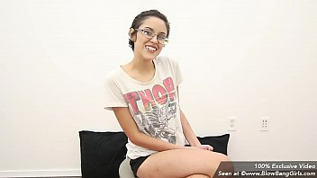 nerdy teen overwhelmed in her first porno &amp_ cries