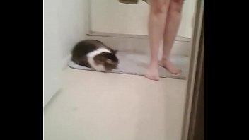 helen in the bathroom