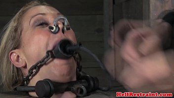 stocked skank being mouth gagged by.