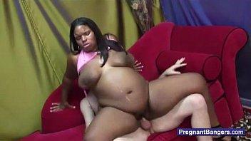 pregnant black girl getting white cock