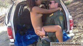 police striptease horny border patrol smashes latin girl.