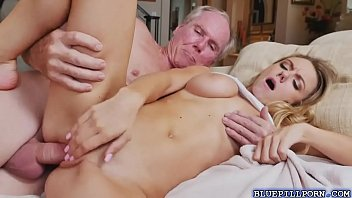 blonde molly mae flirts and fucks with old men
