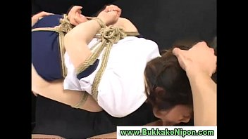 real amateur asian teen gets tied up and.
