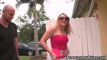 amazing hot blonde teen slut with.