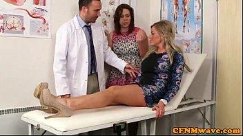 cfnm femdom lissa love gives doctor a bj.