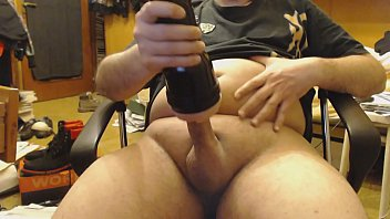 cumming using fleshlight sex toy for.