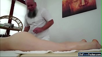czech tera link fingered by old masseur and.
