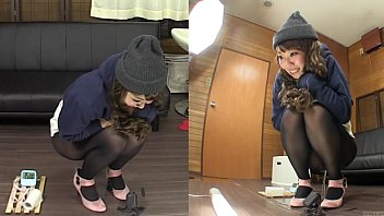 subtitled amateur japanese pee desperation failure.
