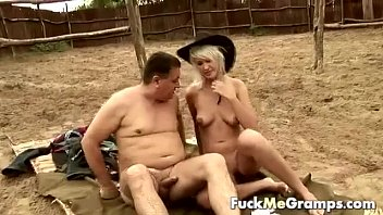 fat old guy fucked by blonde.