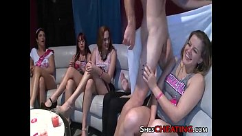 male-strippers with huge-dick gets group blowjobs at bachelorette party