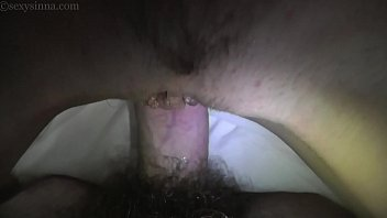 young couple deep penetration bare sex she on.
