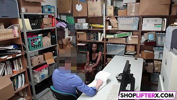 busty ebony teen failed at shoplifting