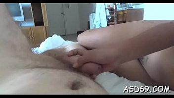 oriental bitch enjoys taking a ride on cock.