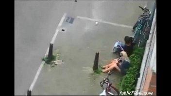 extreme public sex in the street daytime voyeur.