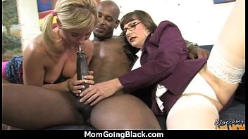 big tits bounce on a black cock and.
