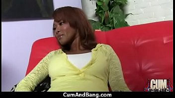 ebony slut group fucked and facialized.