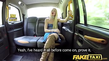 fake taxi golden shower for hot lady followed.