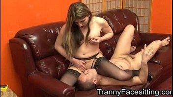 tranny dominates straight guy and makes.
