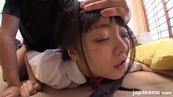very cute japanese young girl facial.