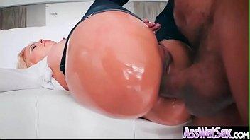 (luna star) slut girl with big oiled butt.