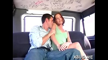 pumping snatch in a bang bus