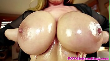 pov titfucked asian milf gets jizzed.