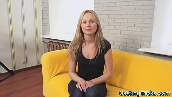 russian casting stunner playing with cum