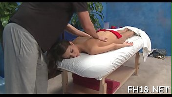 gorgeous 18 year old girl gets a massage.