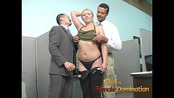slutty blonde takes a cumshot at her first.