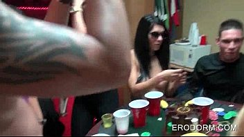 sex poker game at college dorm.
