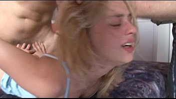 petite amateur blonde teen has very painful crying.