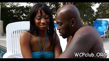 big tit white sweetheart is having interracial sex.