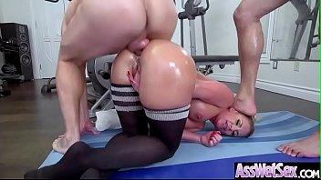 hard anal sex scene with oiled sluty big.